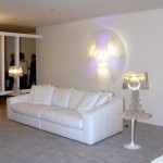Customized Via Lattea – Three light sources, large circle, LED- Interform Showroom - Firenze