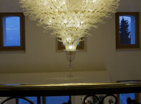 Astoria Oval chandelier  gold and clear  diam250x150cm