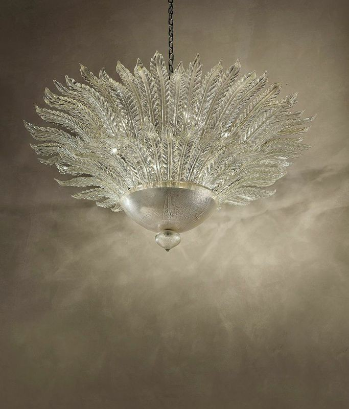 Astoria84 Foglie(leaves) chandelier silver and clear diam130cm h80cm.