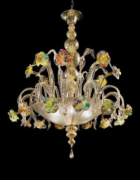 Estate6 (940-5) all gold with clear polychrom diam105cm h120cm