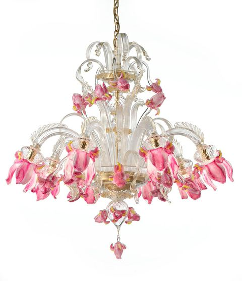 Iris8 (7070-8) clear withgold and pink trim diam100 h 95cm