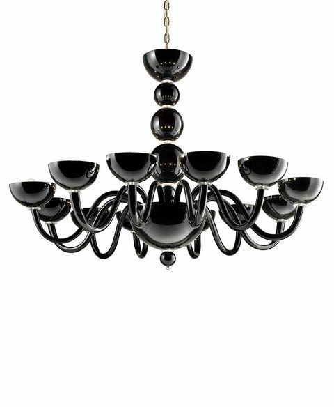Mirabella 12 Chandelier black with transparent details diam 120  h95cm