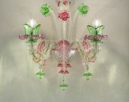 OD-A2silver trimmed with pink and green diam45 h50 sp 30cm