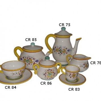 Tea set cr Morning glory