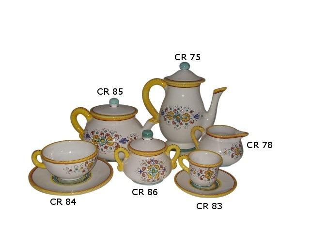 Tea set cr Morning glory