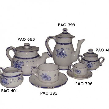 Tea set pao Blue Bouquet