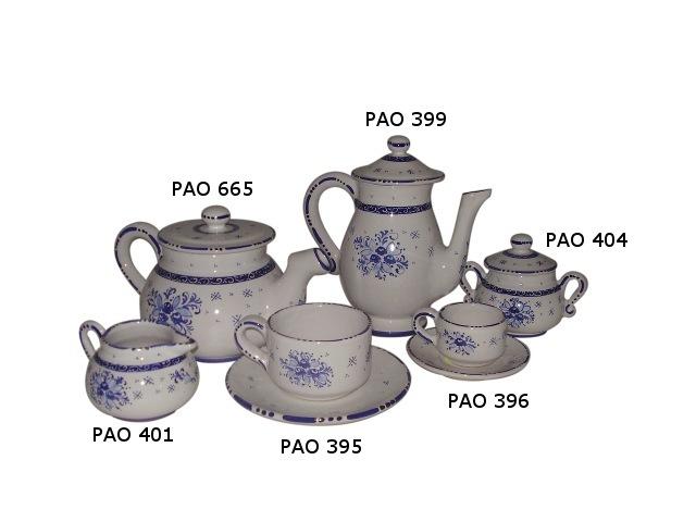 Tea set pao Blue Bouquet