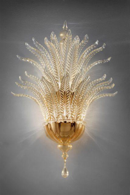 astoria-A24 gold and clear diam 50cm h 85cm  sp30cm