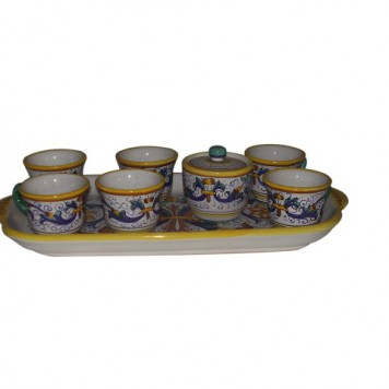 coffe set Deruta x6 d777
